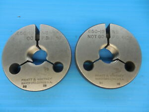 650 19 Ns Thread Ring Gages Go No Go P d s 6157 6129 Inspection Tooling