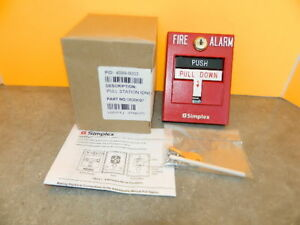 New Simplex 4099 9003 Double Action Addressable Manual Fire Alarm Pull Station