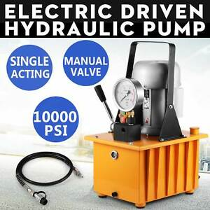 Electric Driven Hydraulic Pump 10000psi 290psi 0 75kw Motor High Pressure Great