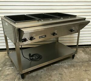 New 3 Well Steam Table Electric Servewell Vollrath 38217 4879 Food Warmer Nsf