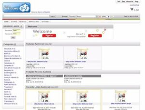 Ebay Type Auction Premium Website Software