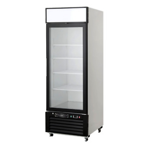 One Glass Door Merchandiser Refrigerator 23 Cu Ft Swing Door