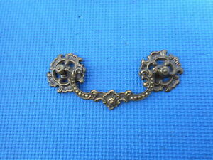 Vintage Brass Hardware Furniture Drawer Cabinet Dresser Pull 4 Holes Nos