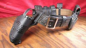 28 Leather Don Hume Duty Belt With Gun Holster And Gear Pouches 28 32
