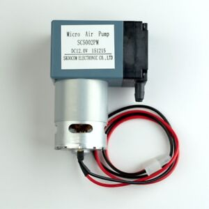 12v Micro Air Pump Operates At 6 Lpm 55kpa 8psi