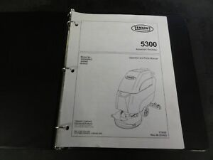 Tennant 5300 Automatic Scrubber Sweeper Operator And Parts Manual