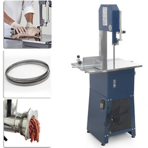 2 Free Blade Industrial 550w Stand Up Meat Band Saw grinder Electric Processor
