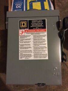 Square D 30 Amp Disconnect D211nrbcp New In Box 52160 Safety Switch