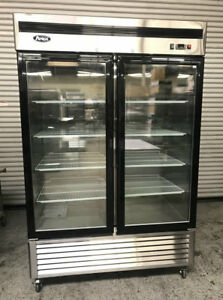 New 2 Glass Door Freezer Etl nsf Atosa Mcf8703 Scratch Dent 7948 Commercial