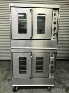 Double Stack Gas Convection Oven Montague 115a 7952 Commercial Bakery Ovens