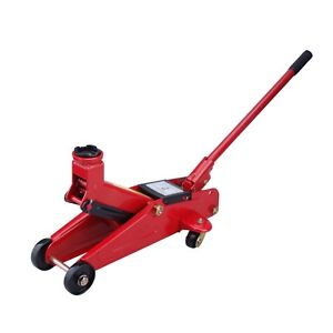 Max Load 2 Ton 4000 Lb Capacity Hydraulic Trolley Floor Jack Compact All Steel