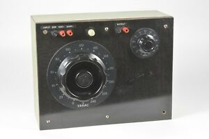 General Radio Custom Transformer With Type W20h Variac And Type W2 Variac