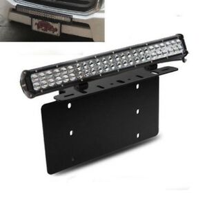 Fit Toyota 4runner Tacoma 126w Led Light Bar W Front License Plate Bracket 4wd