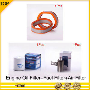 Pronto engine Oil fuel air Filter 3pcs For 1986 Plymouth Reliant L4 2 2l