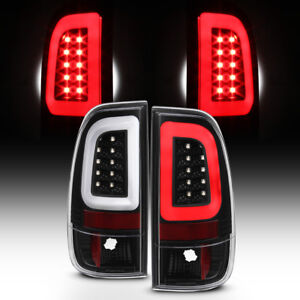 New Black 2008 2016 Ford F250 F350 F450 Sd Superduty Led Tube Tail Lights Lamps