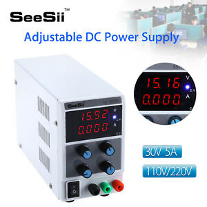 30v 5a Dc Power Supply High Precision Variable 110v 220v W Cable Lab Bench Test