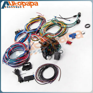 21 Circuit Wiring Harness For Chevy Mopar Ford Hotrod Universal Headlight