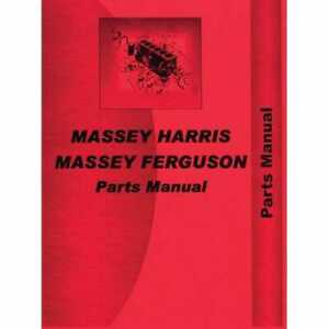 Parts Manual Mh p mf35 Massey Harris ferguson Gas Diesel Massey Ferguson 35