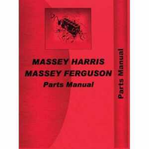 Parts Manual 50 Massey Ferguson 50 50 Massey Harris 50 50