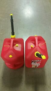 Midwestern 5 Gallon Vented Plastic Gas Can Quantity 2