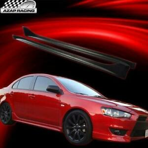 2008 2017 Oe Style Side Skirts Pu Spoiler Spiltter Pair Fits Mitsubishi Lancer