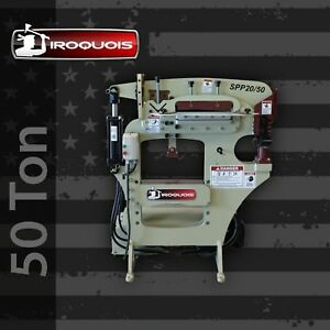 New 50 Ton Iroquois Hydraulic Ironworker shear press punch In Stock