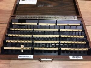 Nice Starrett 100 4 Gage Block Set