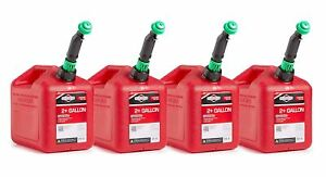 4 Pack Gas Gallon Cans Emergencies Twist Anchor Push Operation Fuel Container Us