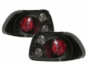 Del Sol Crx 1993 1997 Roadster 2d Tail Rear Light Black V2 For Honda