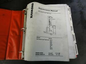 Raymond Easi Reach Fork Lift Truck Maintenance Manual Pdmm 0080
