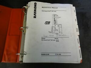 Raymond Ez d Dz d Easi Reach Fork Lift Truck Forklift Maintenance Manual