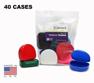 You Pick Color Element Retainer Cases 40 Pack Orthodontic Nightguard Braces