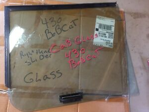 Bobcat 430 Right Side Slider Window Glass With Hardware