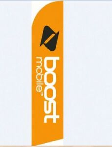 Boost Mobile Windless Swooper Flags Banner Complete Kit free Shipping On Sale