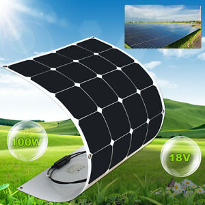 100w Watt Elfeland 18v A class Sunpower Semi Flexible Solar Panel For Rv Boat
