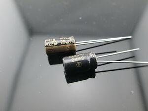 Japan 100pcs Elna Rfs Silmic Ii 22uf 25v 22mfd Silk Audio Capacitor New Diy Hifi