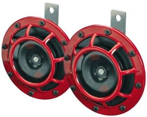 Hella 003399801 Red Super Tone Dual Car Horns 12v 118db Loud Set Of 2