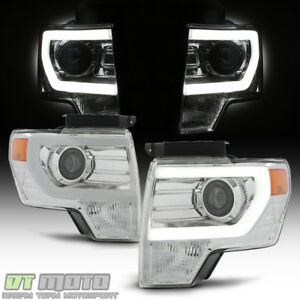 2009 2010 2011 2012 2013 2014 Ford F150 Led Tube Projector Headlights Left Right