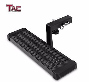 Tac Black Hitch Step 2 Receiver Aluminum Rear Bumper Guard Protection W 6 Drop