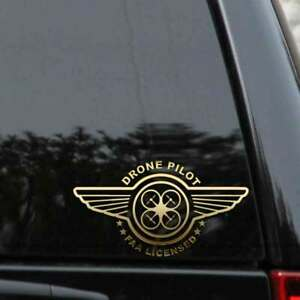 Drone Pilot Decal Sticker Faa Licensed Car Truck Window Laptop
