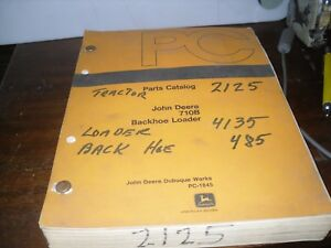 John Deere 710b Backhoe Loader Parts Catalog f24