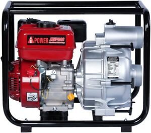 A ipower 3 Inches Semi trash Water Transfer Pump W hose Kit 50 State