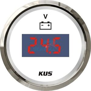 Kus Marine Digital Led Voltmeter Gauge Boat Car Battery Voltage Indecator 9 32v