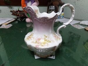 Late 1800s Beautiful Victorian Floral Milk Pitcher Fantastic Condition