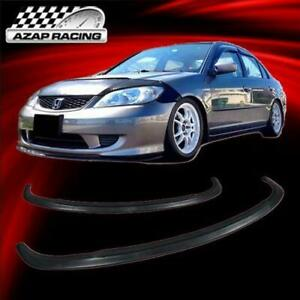 2004 2005 Type A Poly urethane Front Bumper Lip Spoiler Bodykit Fits Honda Civic
