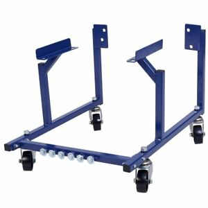 New 1000lb Auto Engine Cradle Stand Ford Dolly Mover Repair Rebuild W Wheels