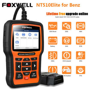 Obd2 Scanner Full System For Mercedes Benz Car Abs Srs Epb Sas Dpf Oil Scan Tool