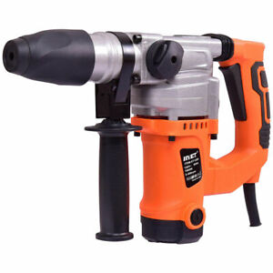 Electric Rotary Hammer Drill 1 Sds Three Function Combo 1000w W chisel Kit