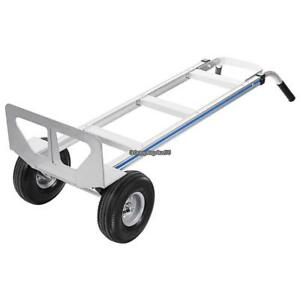 550 Lb Aluminum Hand Truck Dolly Push Moving Cart Trolley Luggage W 2 Wheel Us
