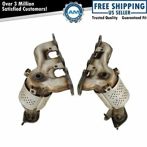 Exhaust Manifold W Catalytic Converter Gasket Hardware Pair For Ford Lincoln